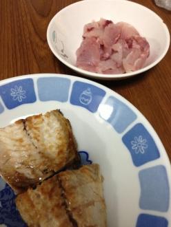サバの塩焼き&イサキの刺身