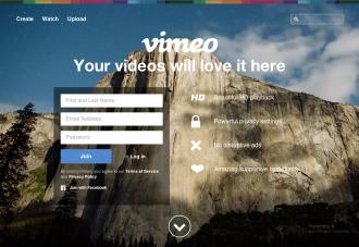 Vimeo トップページ
