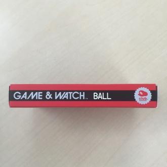 ゲーム&ウオッチ ボール 復刻版 外箱 側面