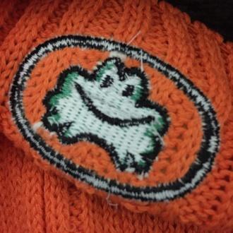 パラッパニット帽 刺繍の裏面