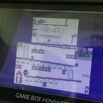 「ゲームボーイギャラリー2」のドンキーコング下画面