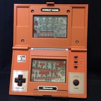 ゲーム&ウオッチ「ドンキーコング」液晶全点灯状態
