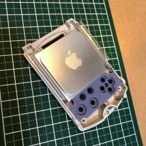 ビジュアルメモリ前面筐体とiPod nano